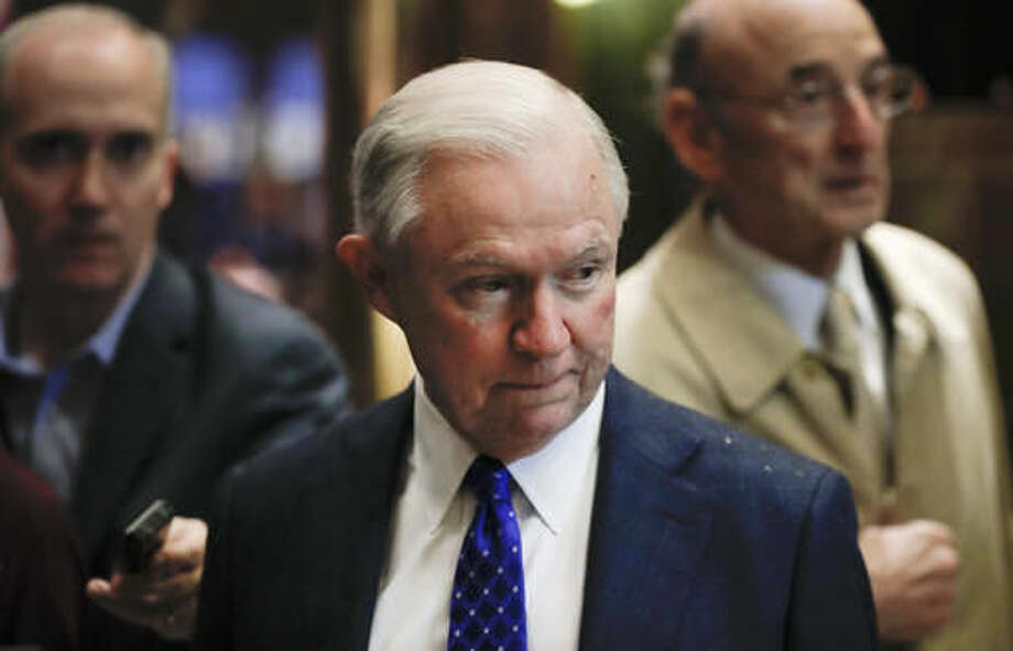 FILE - In this Nov. 15, 2016 file photo, Sen. Jeff Sessions, R-Ala., arrives at Trump Tower in New York. As one of President-elect Donald Trump's closest and most consistent allies, Sessions is a likely pick for a top post in his administration. But the last time Sessions faced Senate confirmation it didn't go well. (AP Photo/Carolyn Kaster, File)