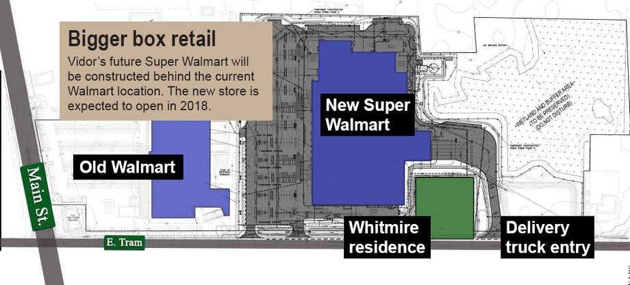 Map of Vidor's future Super Walmart located behind the current Walmart location. The structure is expected to be complete by 2018. Photo: Illustration Provided By S&D Construction