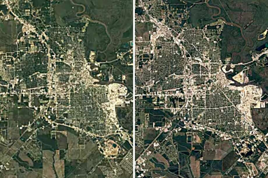 Google Earth Timelapse shows how Texas cities have changed in 30 yearsBeaumont in 1984, left, versus Beaumont in 2016.Keep clicking to see how other Texas cities have taken shape in the past three decades. Photo: Google Earth Timelapse
