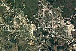Google Earth Timelapse shows how Texas cities have changed in 30 years             Beaumont in 1984, left, versus Beaumont in 2016.   Keep clicking to see how other Texas cities have taken shape in the past three decades.