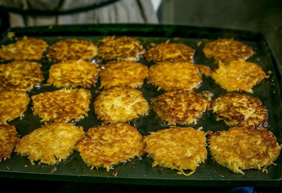 Sweet Potato Latkes. Photo: John Storey, Special To The Chronicle