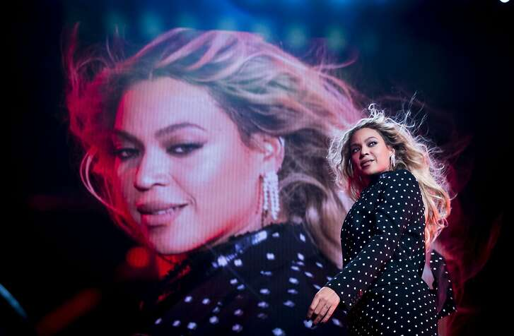 FILE -- Beyonce performs at a get-out-the-vote event for the Hillary Clinton campaign in Cleveland, Nov. 4, 2016. Beyonce�s nine nods for �Lemonade,� her album and film exploring race and infidelity, led the field as nominations for the 59th Grammy Awards were announced on Dec. 6. (Doug Mills/The New York Times)