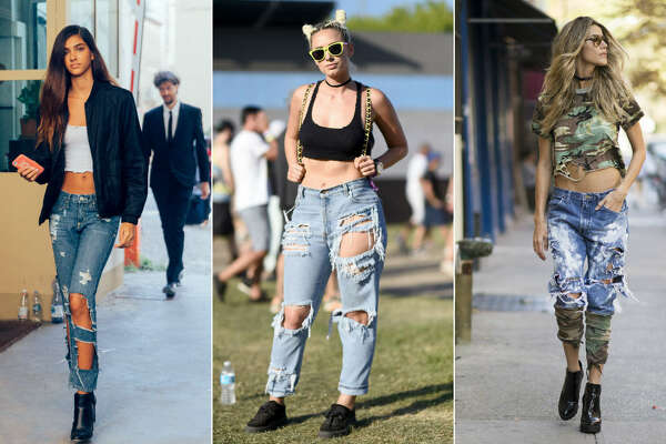 Overly distressed jeans is a 2016 trend that should be left in 2016.