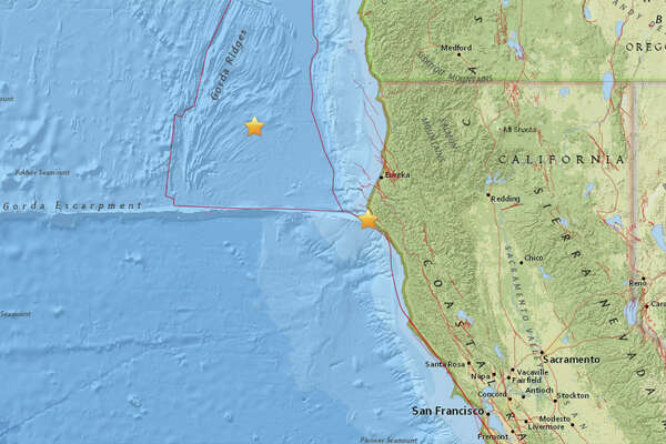 A magnitude 4.3 quake struck yesterday 37 miles southwest of Eureka, California. A 4.4 earthquake struck this morning 117 miles West Northwest of Eureka, California.