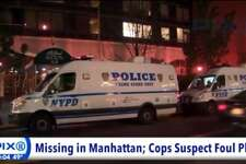 A screen grab from WPIX-TV shows the active investigative scene at the Grand Sutton building near the corner of East 59th Street and First Avenue in New York City on Tuesday, Nov. 15, 2016.