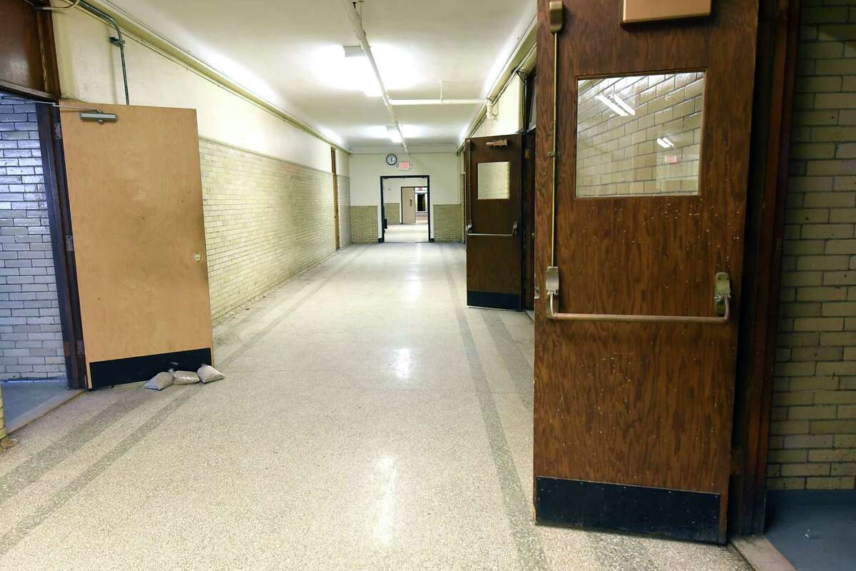 Hallway of the Schuyler Building that is the future home of the University at Albany's College of Engineering and Applied Sciences (CEAS) on Tuesday, Dec. 6, 2016 in Albany, N.Y. Originally serving as Albany High School from 1913-1972, the Schuyler Building is located at UAlbany's downtown campus. (Lori Van Buren / Times Union)
