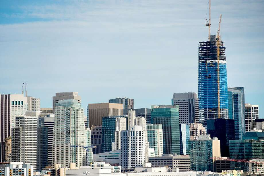 The Salesforce Tower, currently under construction, rises above San Francisco's skyline on Tuesday, Dec. 6, 2016. Photo: Noah Berger, Special To The Chronicle