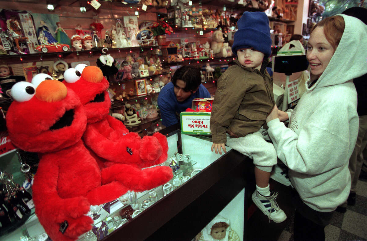 PHOTOS: The most popular holiday toys of the last 35 years It's been 20 years since parents and kids were going wild for Tickle Me Elmo. We look back at the madness two decades ago.  See the most popular toys under the tree over the past 35 years...