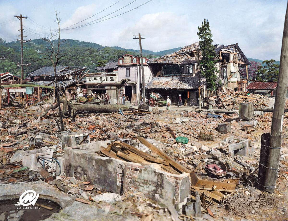 Hiroshima after the bombing, 1945,