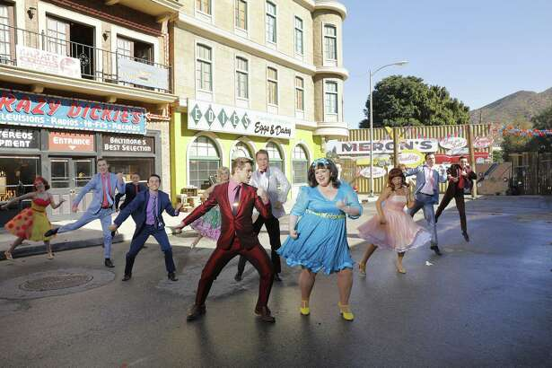 """Part of """"Hairspray Live!"""" will take place outside on the Universal backlot, which has been transformed into suburban Baltimore."""