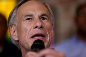 Texas Gov. Greg Abbott speaks during a campaign event for Republican candidates U.S. Rep. Will Hurd, R-Helotes, and state Reps. John Lujan and Rick Galindo, both R-San Antonio, held Monday Nov. 7, 2016 at The County Line.