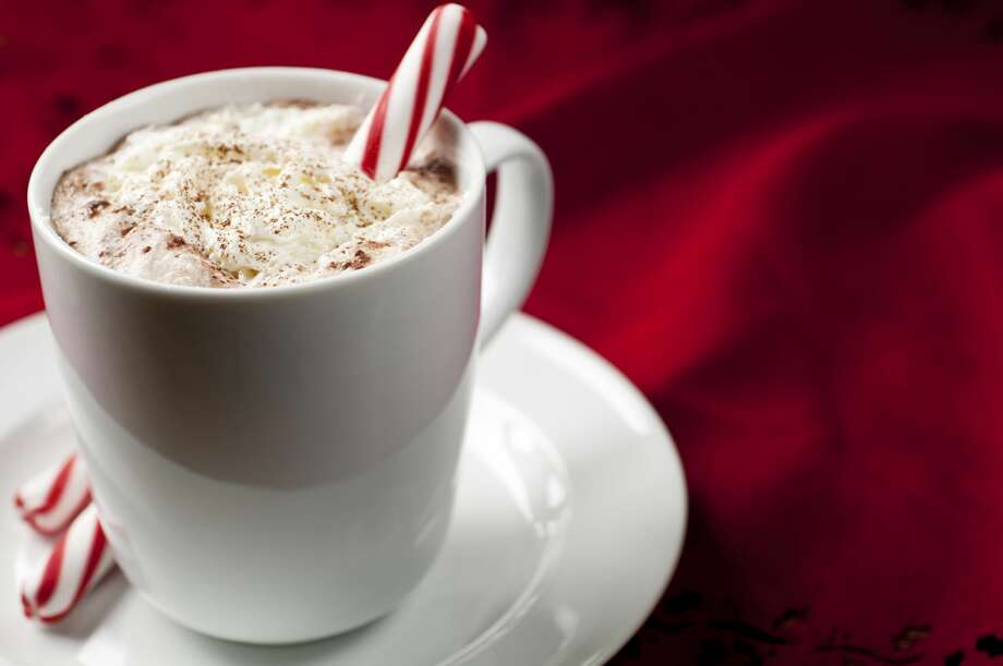 Candy Cane-Kahlua Hot Chocolate