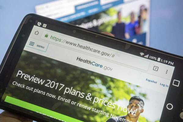 """The file photo Healthcare.gov website. The emerging Republican health care strategy, according to news reports, is """"repeal and delay"""" — vote to kill Obamacare, but with the effective date pushed back until after the 2018 midterm elections."""