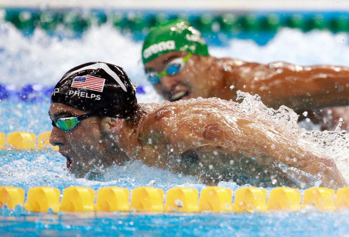 Michael Phelps, swimming He found himself in hot water when photos surfaced showing the Olympic gold medalist inhaling from a marijuana pipe.
