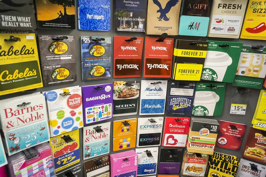 A selection of gift cards in a store on March 8, 2016 in New York. (Richard B. Levine/Levine Roberts/Newscom/Zuma Press/TNS) Photo: Richard B. Levine/Newscom, TNS