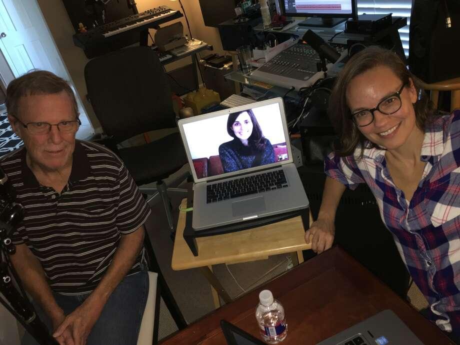 Mike Snyder, Erin (via Skype) and Nancy (Afshar Kharat)