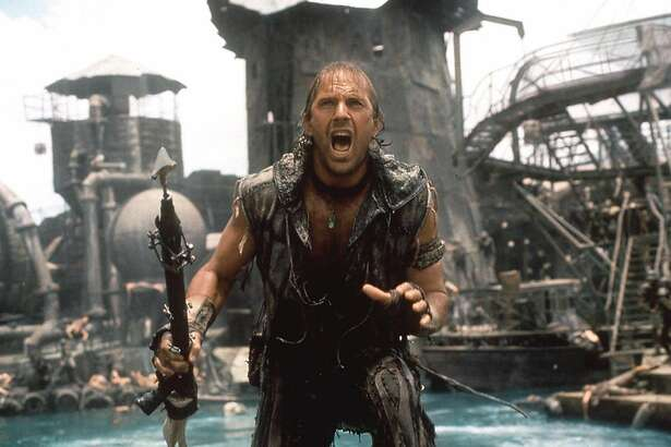 """The polar ice caps have long since melted in """"Waterworld"""" (1995), and Kevin Costner's antiheroic Mariner is an amphibious mutant adventuring across a globe that has become one endless ocean, with """"dry land"""" merely a myth. (Or is it?)"""