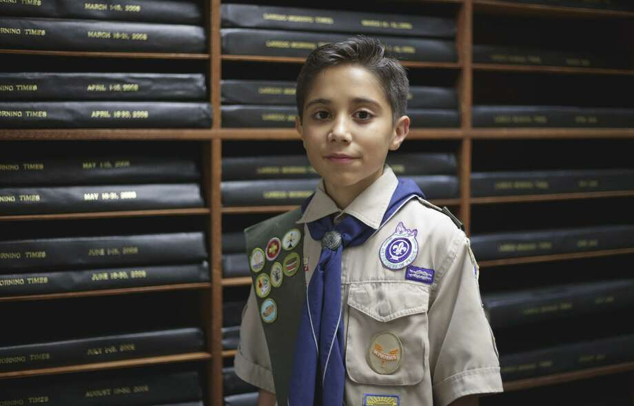 Erick Varela is a member of the local Boy Scouts Troop 201. Photo: Victor Strife /Laredo Morning Times File / Laredo Morning Times