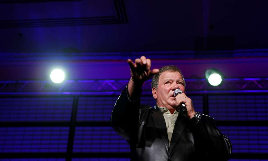 "William Shatner addresses fans at a ""Star Trek"" convention in S.F. Photo: Lacy Atkins, The Chronicle"