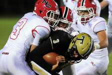 High school football action between New Canaan and Trumbull in Trumbull, Conn. on Friday Nov. 4, 2016.