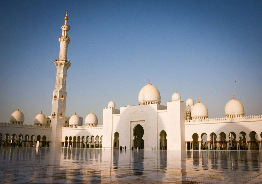 One of the largest mosques in the world, the Sheikh Zayed Grand Mosque was conceived by the first president of the UAE. Photo: Jill K. Robinson, Special To The Chronicle