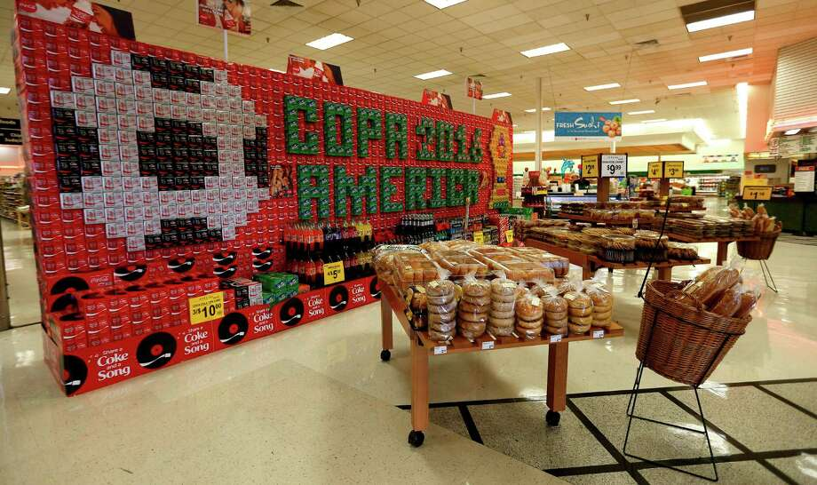 A special display of Coke products, in the front of the store, for the upcoming Copa 2016 America soccer series at Fiesta Mart at 8130 Kirby Drive, Monday, May 23, 2016. Fiesta Mart is one of the top 10 private companies in the Chronicle 100 special section. ( Karen Warren  / Houston Chronicle ) Photo: Karen Warren, Staff / © 2016 Houston Chronicle