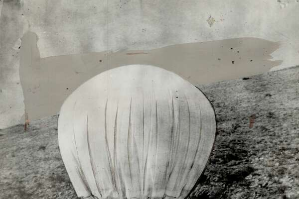 CANADA - JUNE 11: Only picture of a Japanese balloon in the air over North America is this one. This balloon bomb; like the Nazi robomb; carries a charge of explosive without pilot. (Photo by Toronto Star Archives/Toronto Star via Getty Images)