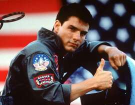 "Tom Cruise in a scene from the 1986 film ""Top Gun"" produced by Jerry Bruckheimer. (Gannett News Service/Paramount Pictures)"