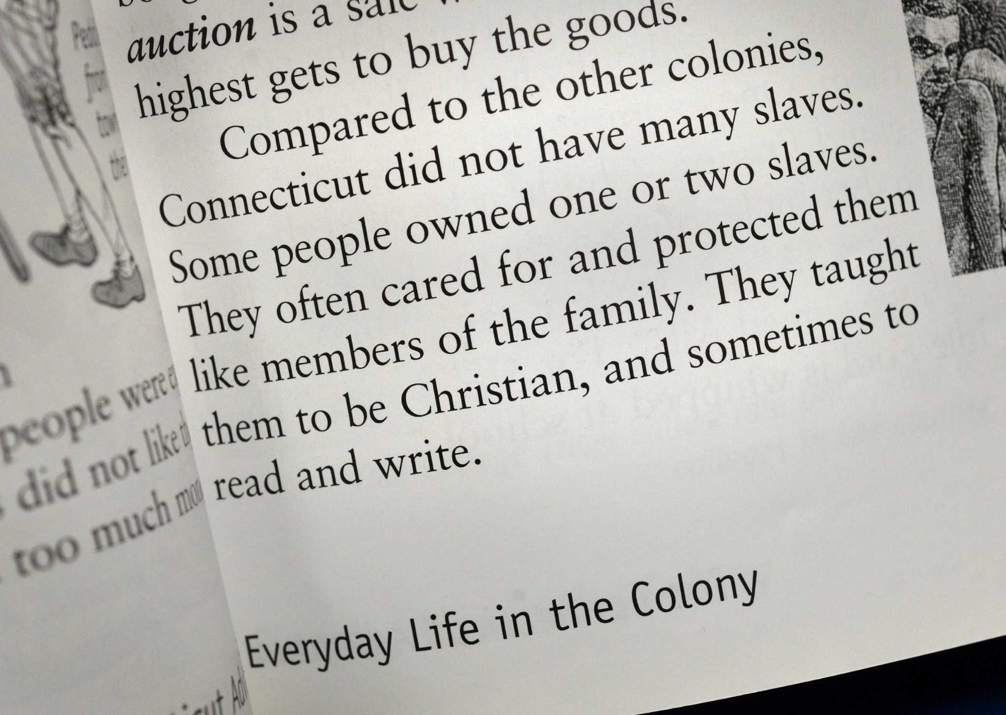 Fourth-grade textbook's take on Connecticut slavery scrutinized - The Hour