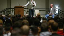 White nationalist Richard Spencer speaks at Texas A&M University Tuesday, Dec. 6, 2016 in College Station. ( Michael Ciaglo / Houston Chronicle )