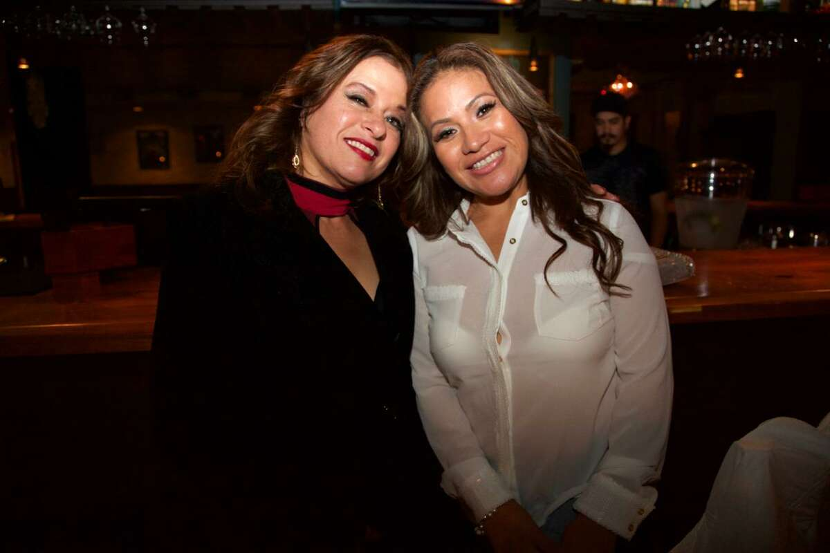 Kathy Garcia and Claudia Aguilar are at La Roca.
