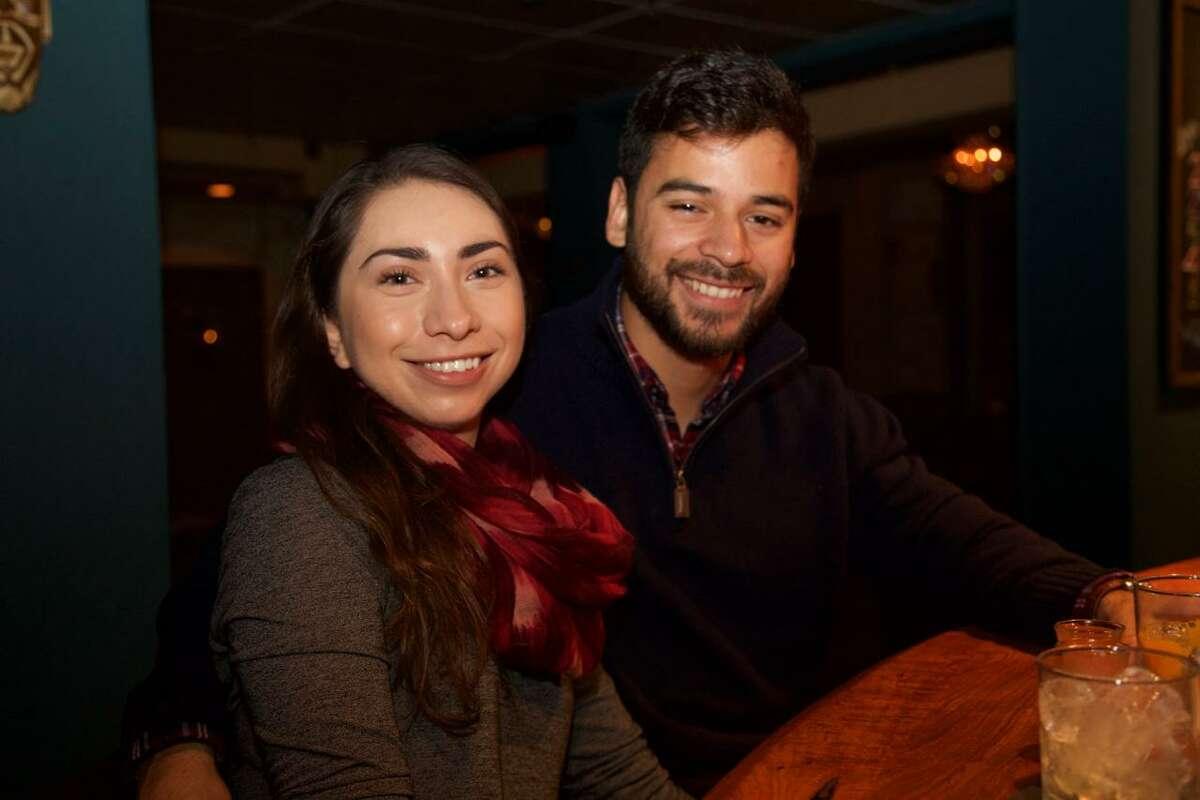 Jasmine Sarabia and Peter Maciel are at La Roca.
