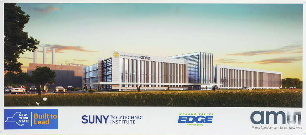 April 20, 2016-- Marcy, NY - Governor Andrew M. Cuomo today announced the groundbreaking of SUNY Polytechnic Institute's new 360,000 square foot state-of-the-art computer chip fab at the Marcy Nanocenter, which will be home to ams AG's advanced sensor manufacturing. The groundbreaking marks a major milestone in the governor's Nano Utica initiative, which is now projected to create at least 4,000 jobs over the next decade, and includes research and development at the Computer Chip Commercialization Center (QUAD C) in partnership with General Electric.