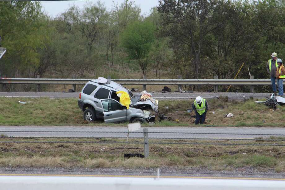 A teenage girl died Dec. 7, 2016, on an access road of Interstate 10 near Foster Road after crashing into a cement truck, according to police. Photo: Tyler White, San Antonio Express-News / San Antonio Express-News