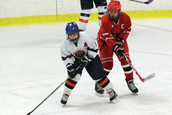Girls high school ice hockey game between Stamford-Westhill-Staples and Greenwich High School at Terry Connors Rink in Stamford, Conn., Wednesday, Feb. 10, 2016.