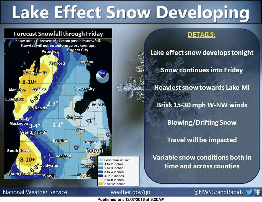 Lake effect snow piling up in parts of upstate New York