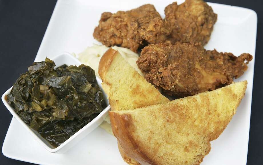 Fried chicken and greens at Max's Wine Dive. Veteran chef Halston Connella has been named the new executive chef at the chain's San Antonio location. Photo: Tom Reel /San Antonio Express-news / 2015 SAN ANTONIO EXPRESS-NEWS