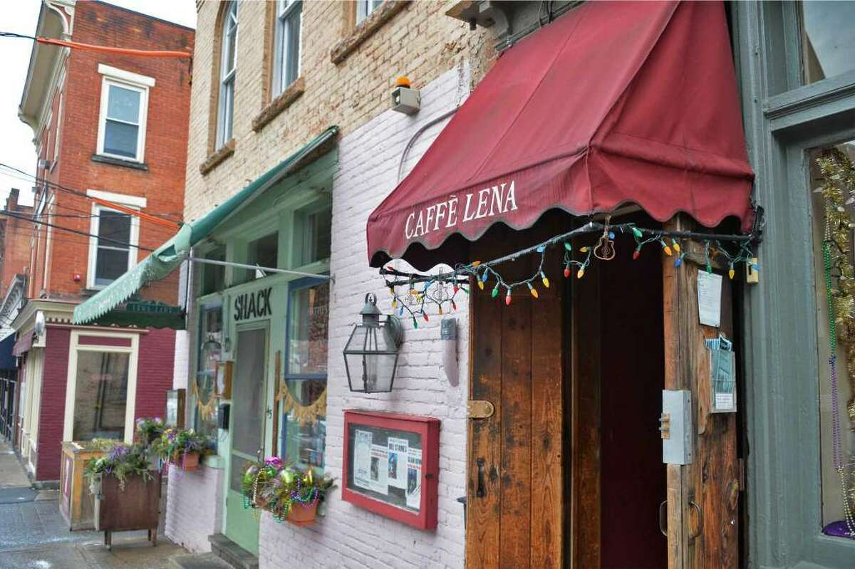 The entrance to Caffe Lena on Phila Street in Saratoga Springs, January 2016. (Times Union archive)