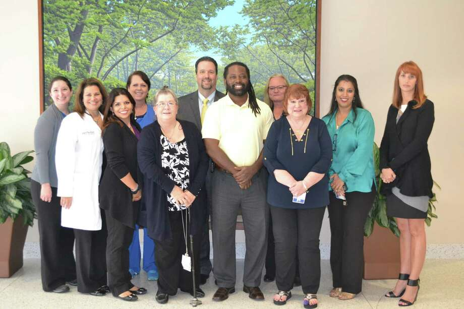 Members of the Methodist Sugar Land quality team from left are Anna Floyd; Maria Socci, RN; Monica Salinas, RN; Jackie Trotter, RN; Ann        Prather, RN; Chris Siebenaler, CEO; Damon Smith, RN; Pauletta        Blackstock, RN; Diane McGraw, RN, Quality Director; Tanuja Parmar, RN;        and Brooke Taylor, RN. Photo: Methodist Sugar Land