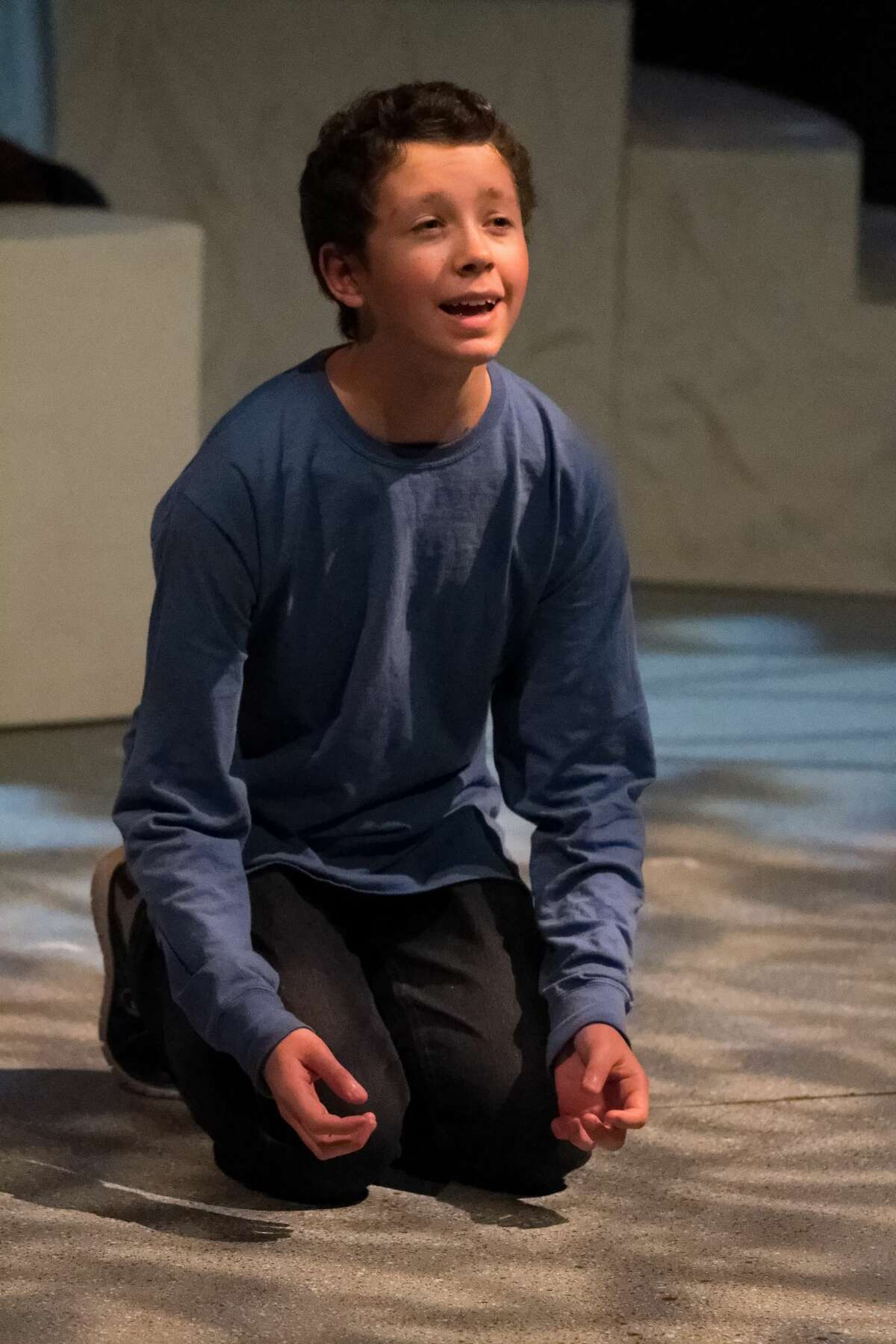 Kristopher Mercy in the rehearsal of