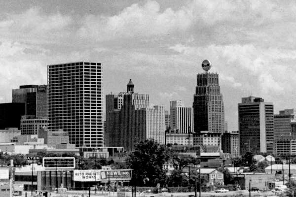 Houston skyline, July 1969. How many oil companies can you spot? Click through to see some of them.