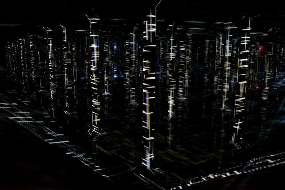 """A view of """"Rain: Magdalena Fern‡ndez at the Houston Cistern"""" a video and sound art installation by Venezuelan artist Magdalena Fern‡ndez is shown at the Buffalo Bayou Cistern,105 Sabine,  Wednesday, Dec. 7, 2016, in Houston. """"Rain"""" will be open to the public Wednesdays-Fridays, 3:30-7 p.m. and Saturdays-Sundays, 10 a.m.-7 p.m., Dec. 10-June 4. Admission will be $8-$10, free on Thursdays. Timed admission tickets are on sale now at buffalobayou.org. ( Melissa Phillip / Houston Chronicle ) Photo: Melissa Phillip, Staff / © 2016 Houston Chronicle"""