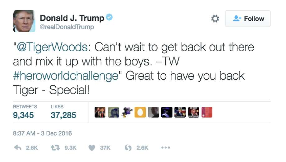 A screenshot of a tweet sent by President-elect Donald Trump after the Dec. 3 deadly Oakland Ghost Ship warehouse fire. Photo: Twitter