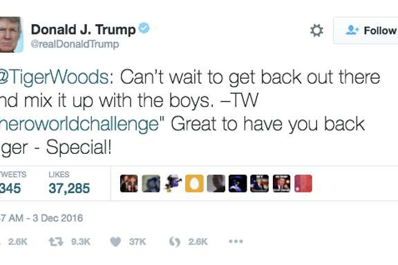 A screenshot of a tweet sent by President-elect Donald Trump after the Dec. 3 deadly Oakland Ghost Ship warehouse fire.