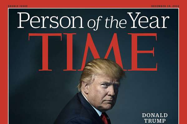 "This image provided by Time magazine, shows the cover of the magazine's Person of the Year edition with President-elect Donald Trump in New York. Time editor Nancy Gibbs said the publication's choice was a ""straightforward"" choice of the person who has had the greatest influence on events ""for better or worse."" (Nadav Kander for Time Magazine via AP)"