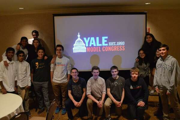 Students from Wilton High School's Model Congress at the Yale conference from Dec. 1-4, 2016.