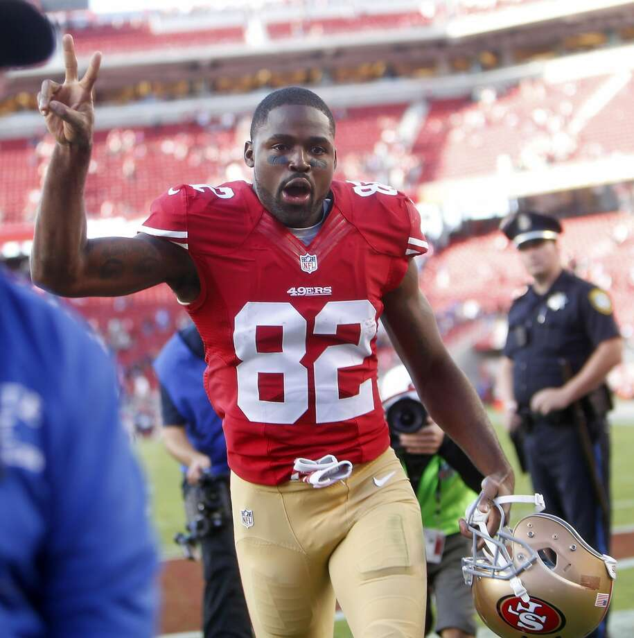 San Francisco 49ers' Torrey Smith after Niners' 25-20 win over Baltimore Ravens in NFL game at Levi's Stadium in Santa Clara, Calif., on Sunday, October 18, 2015. Photo: Scott Strazzante, The Chronicle
