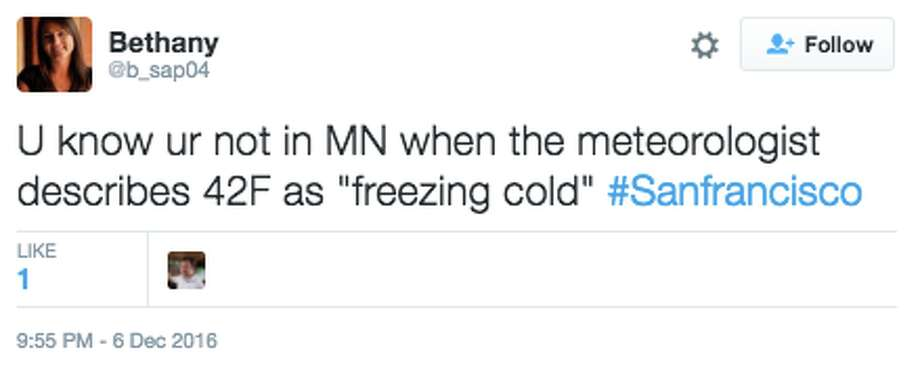 San Franciscans complain about the cold weather on Twitter with hysterical results. Photo: Twitter Screen Capture