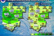 A strong cold front will bring much colder temperatures to the area beginning tonight and lasting through Friday. Temperatures behind the front will drop well below freezing and light wintry precipitation is expected near interstates 10 and 20. Any accumulations will be very light, but elevated surfaces such as bridges and overpasses could become slippery especially near where I-10 and I-20 merge near the Davis Mountains.