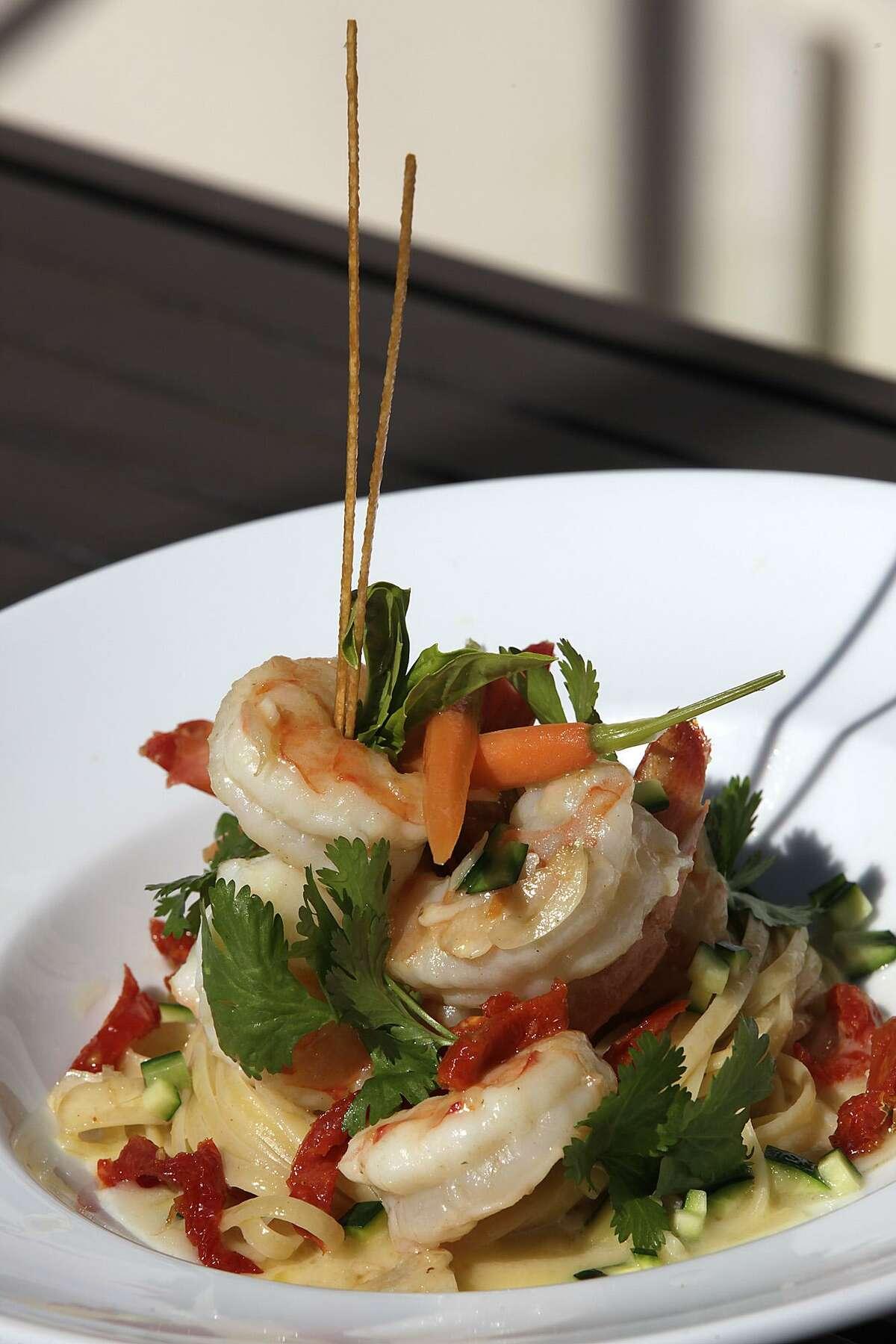 Texas Gulf Shrimp with Cilantro Butter and Linguine